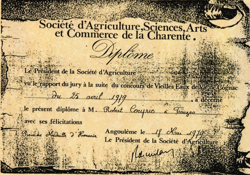 Concours des vieilles Eaux de vie, Première médaille d'honneur 1979.